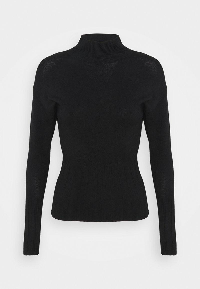 Marks & Spencer London - DEEP CUFF FUNN - Pullover - black