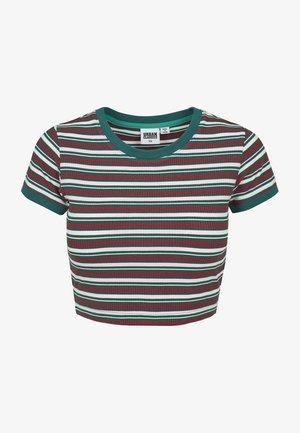 Print T-shirt - white/green/firered
