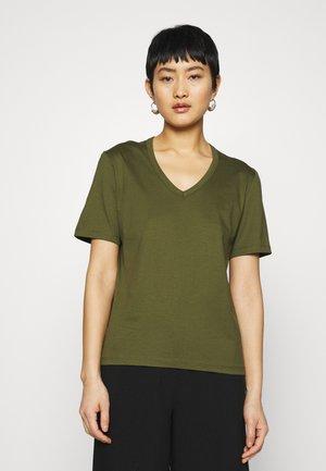 NUDMEG - T-shirt basic - dark olive
