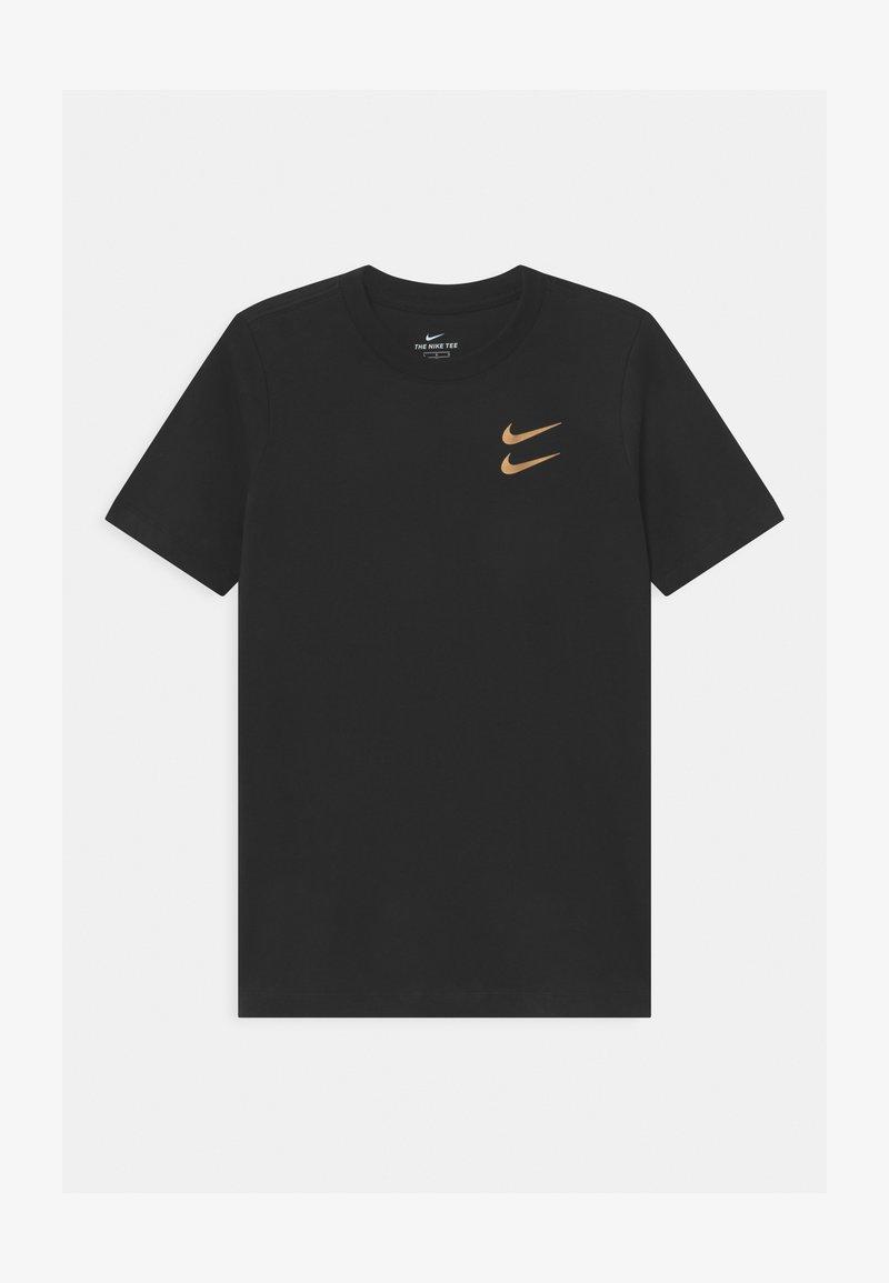 Nike Sportswear - T-shirt imprimé - black/gold