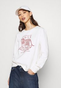 ONLY - ONLZELINA LIFE TIGER BOX - Sweatshirt - cloud dancer