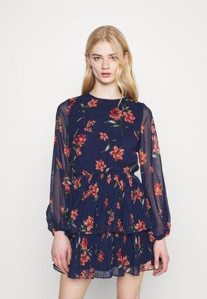 AMBER PLEATED DRESS - Day dress - blue