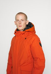 G-Star - EXPEDIC+ HOODED DOWN - Untuvatakki - hide nylon wr - royal orange - 4