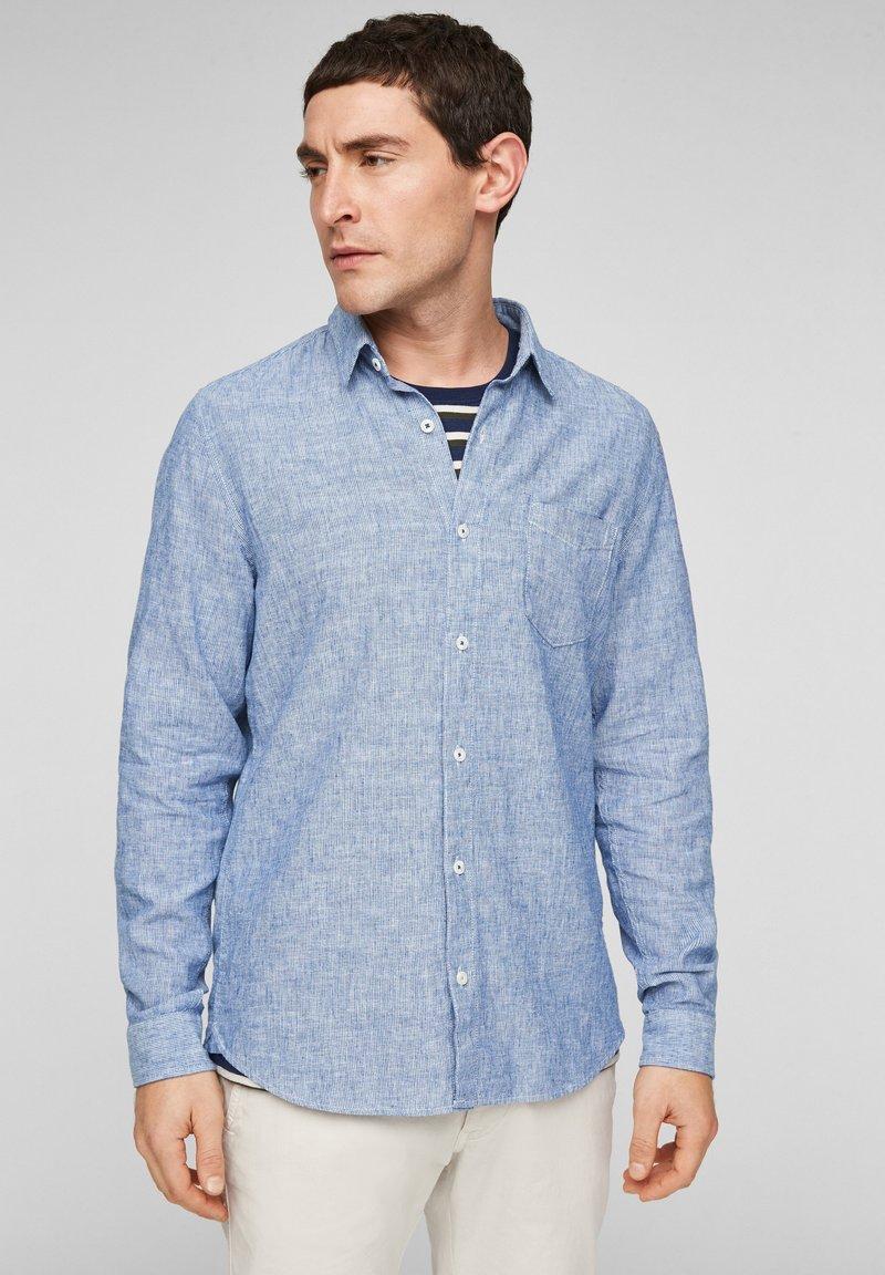 s.Oliver - Shirt - blue dobby