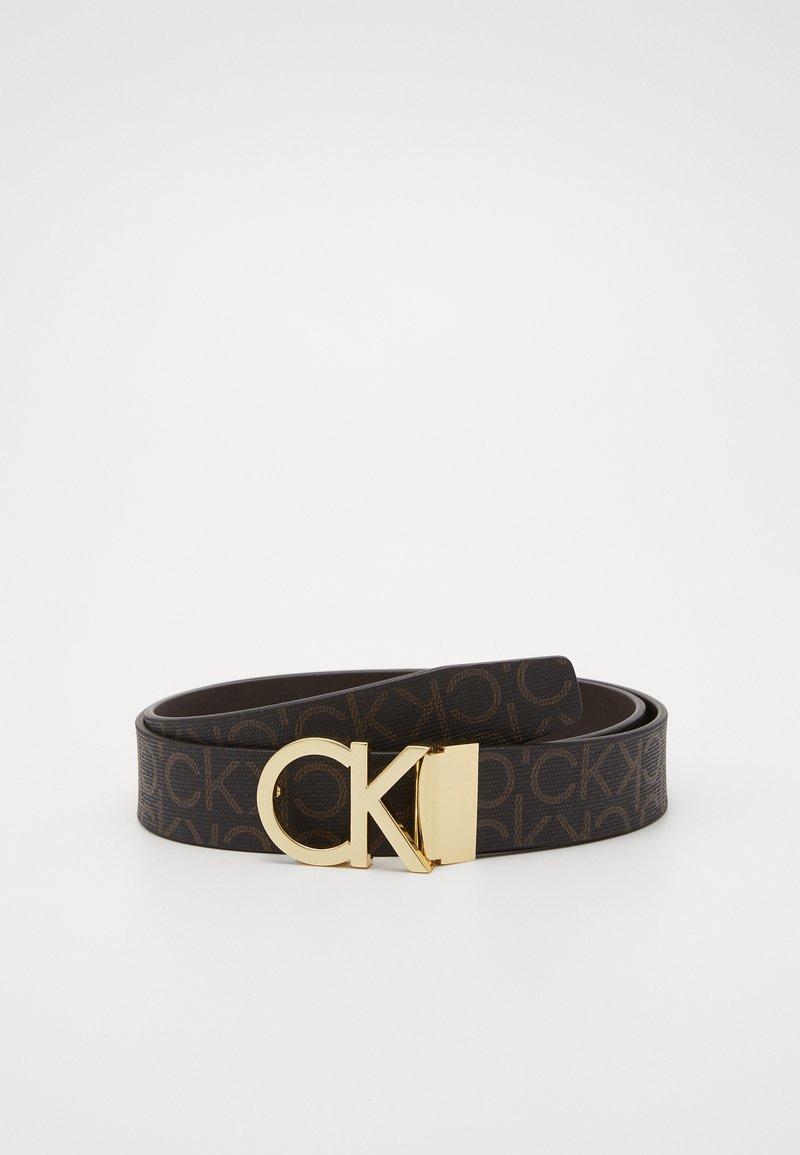 Calvin Klein - NEW MONO BELT - Cinturón - brown