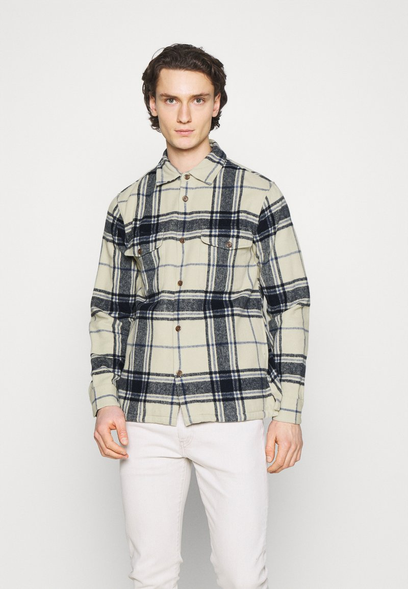 Abercrombie & Fitch - PLAID JACKET - Summer jacket - cream