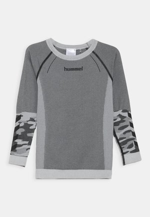 MAX SEAMLESS - T-shirt à manches longues - medium melange