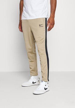 PANT - Tracksuit bottoms - khaki/black/white