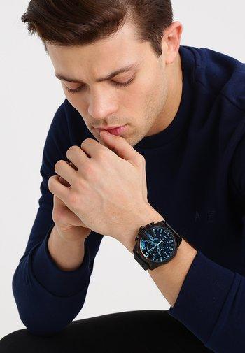 LG RD BLK BLK ST - Chronograph watch - schwarz
