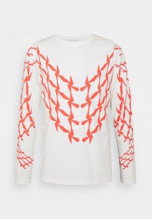 SCOOTER LONG - Bluzka z długim rękawem - off white/red
