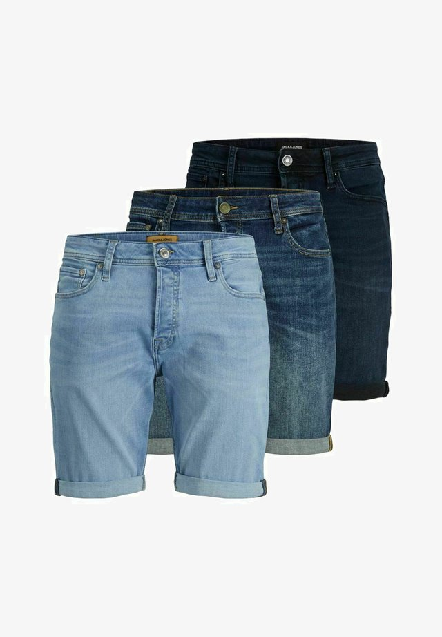 3 PACK RICK ORIGINAL AGI - Jeansshort - medium blue denim