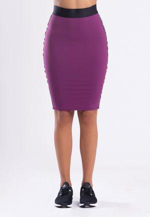 MY STRIPES  - Pencil skirt - black
