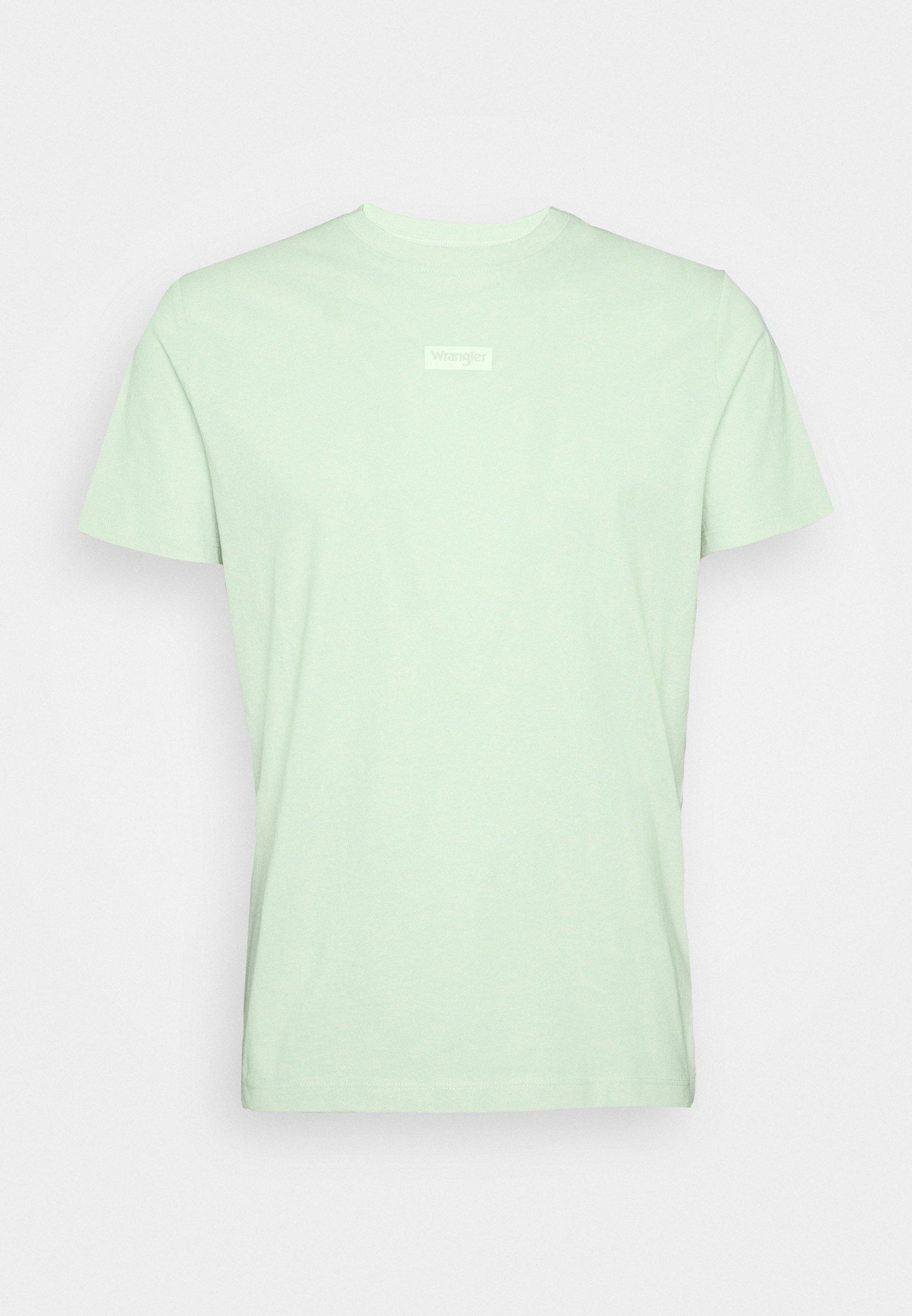 Wrangler Small Logo Tee - T-shirt Z Nadrukiem Green Spray