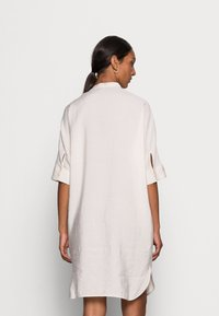 Marc O'Polo - DRESS RELAXED FLUENT STYLE CHEST POCKET ROUNDED HEMLINE - Day dress - shaded sand - 2