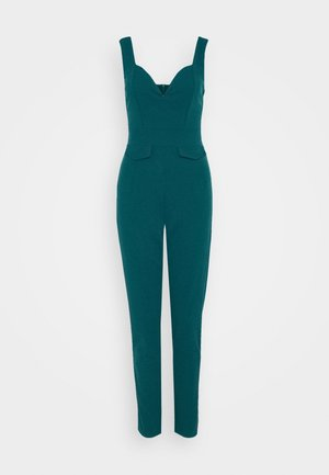 SERENITY PLUNGE - Jumpsuit - dark teal blue