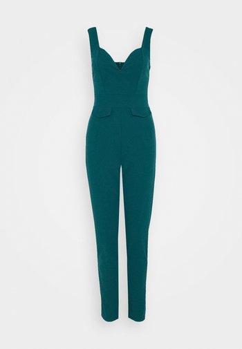 SERENITY PLUNGE - Overall / Jumpsuit - dark teal blue
