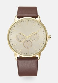 Pier One - LEATHER UNISEX - Watch - brown - 0
