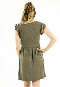 ONLY - Jersey dress - vert - 2