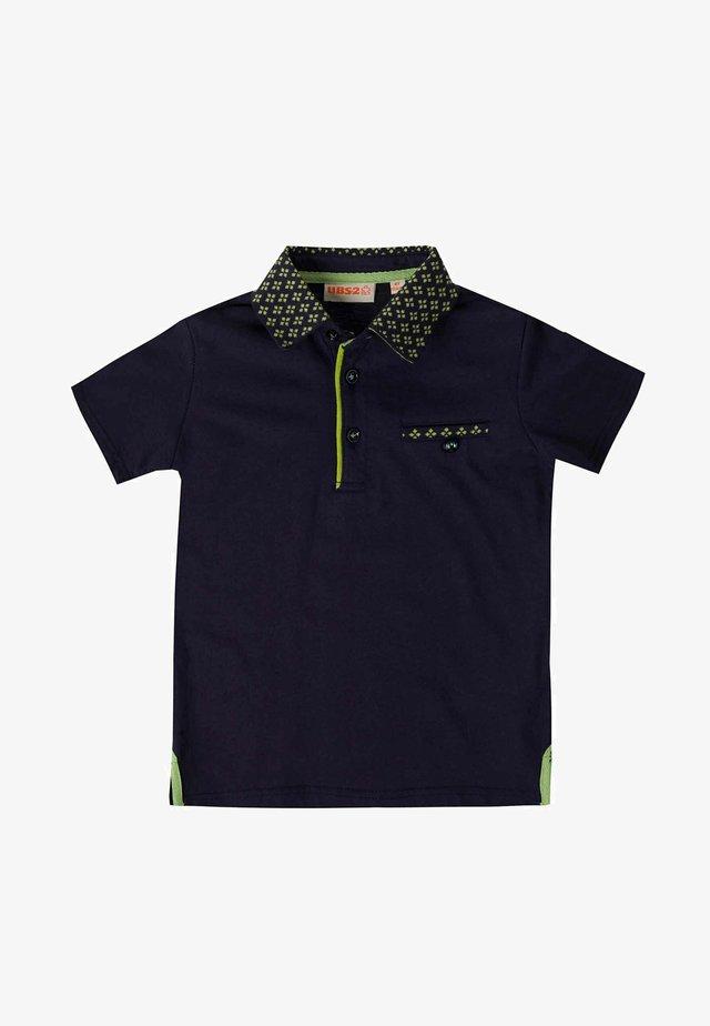 Poloshirt - mottled dark blue