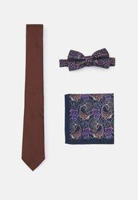 Burton Menswear London - SET - Cravatta - navy tan - 0
