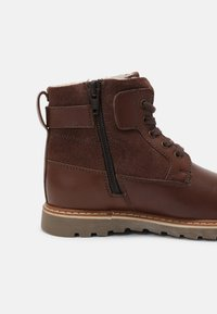 Friboo - LEATHER - Lace-up ankle boots - dark brown - 6