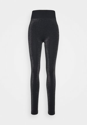 HIGH WAISTED SEAMLESS LEGGING - Collants - black