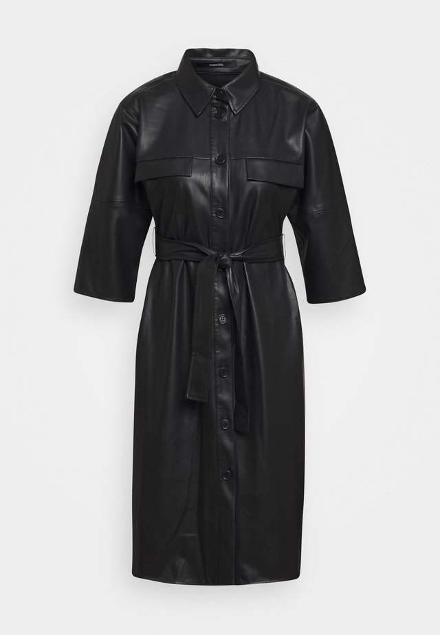 QUAARA - Shirt dress - black