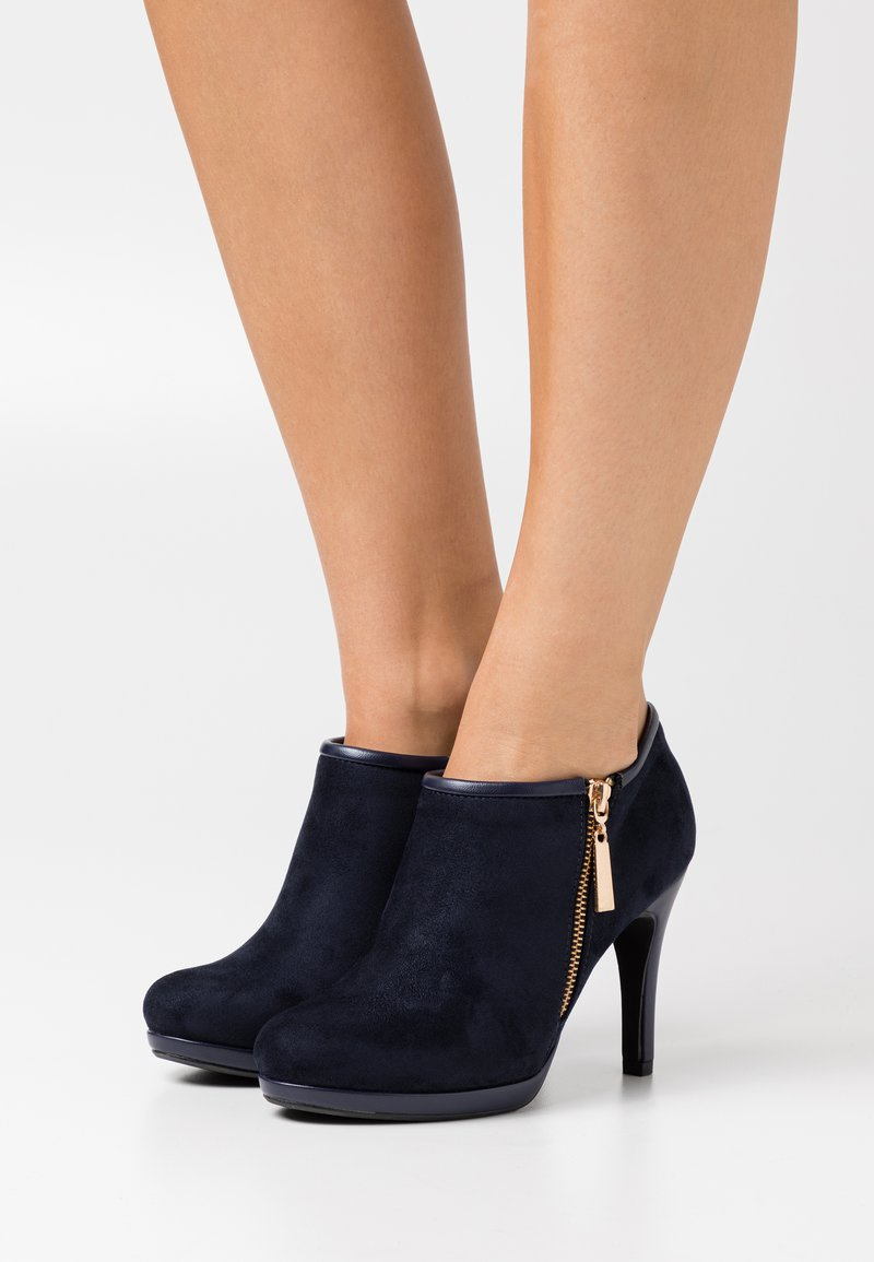 Wallis - CLAUDIA - High heeled ankle boots - navy