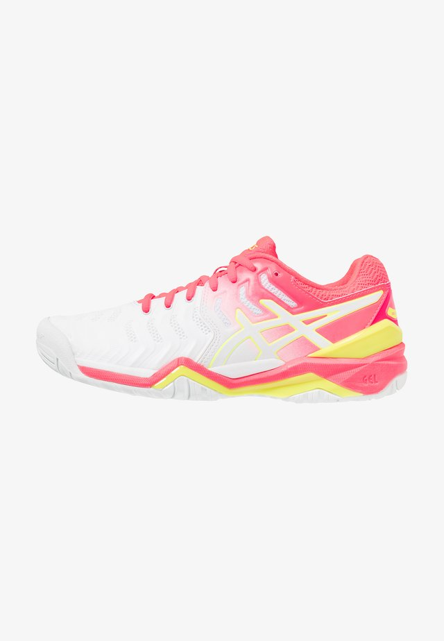 GEL-RESOLUTION 7 - Allcourt tennissko - white/laser pink