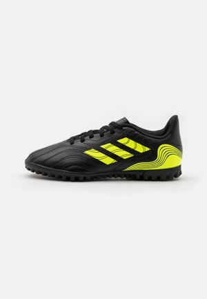 COPA SENSE.4 TF UNISEX - Astro turf trainers - core black/solar yellow
