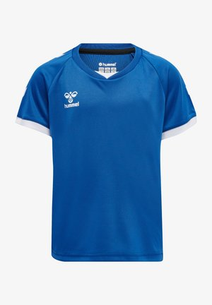 HMLCORE VOLLEY TEE KIDS - Print T-shirt - true blue
