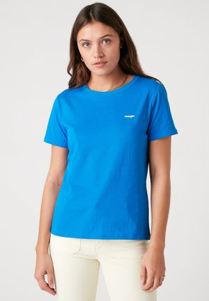 SIGN OFF TEE - Basic T-shirt - strong blue