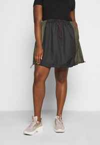 Nike Sportswear - SKIRT - A-line skirt - black/twilight marsh - 0