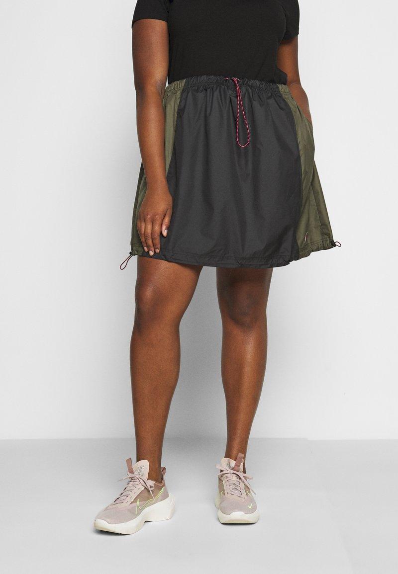 Nike Sportswear - SKIRT - A-line skirt - black/twilight marsh