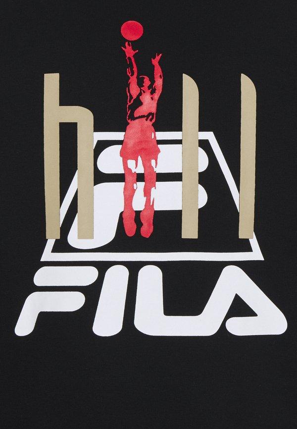 Fila FYODOR HOODY - Bluza - black/czarny Odzież Męska RQKU