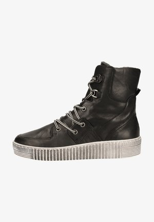Platform ankle boots - schwarz (smoky)