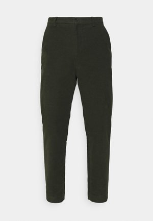 LUCIAN MOLESKIN TROUSER - Trousers - moss green