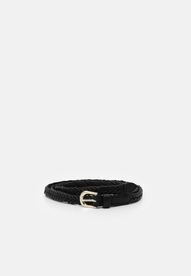 BRAIDED BELT - Cinturón - black