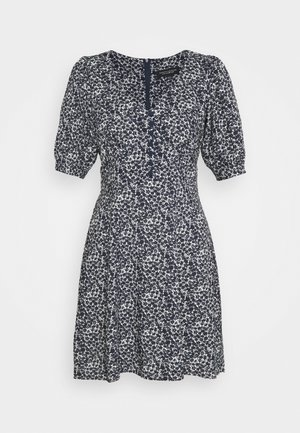 DITSY BUTTON FRONT MINI DRESS - Vestito estivo - navy