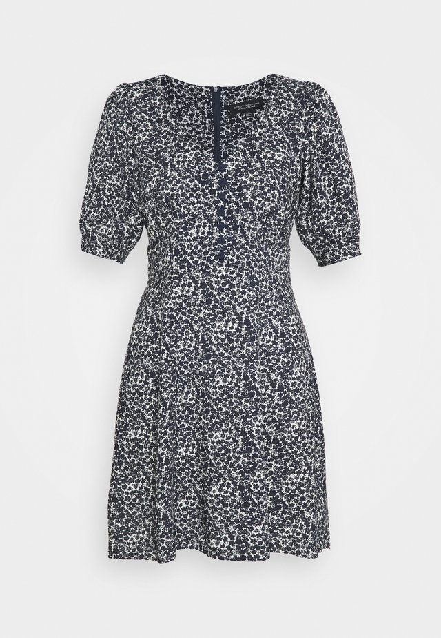 DITSY BUTTON FRONT MINI DRESS - Robe d'été - navy