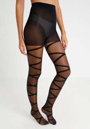 20 DEN OPEN GLADIATOR - Tights - black