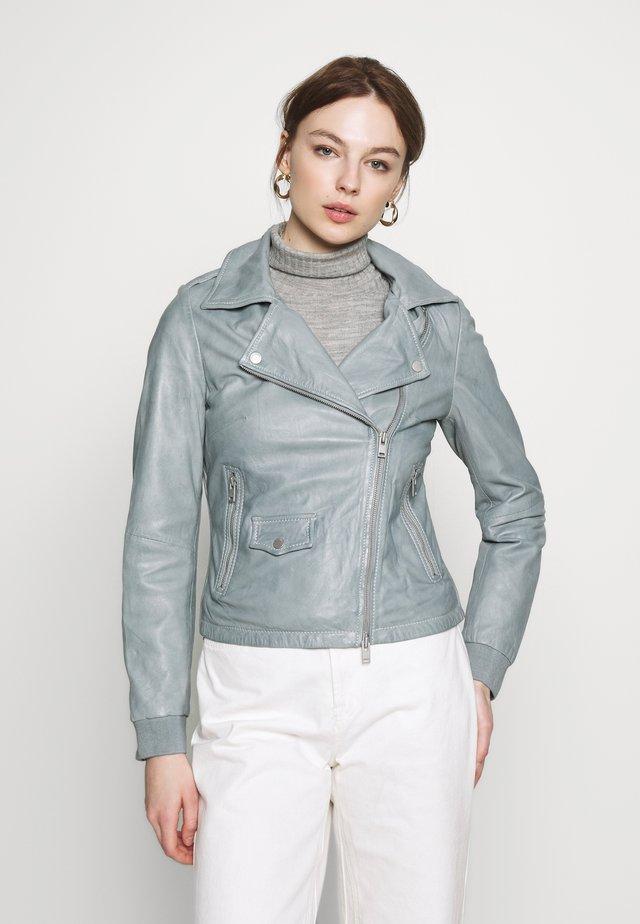 ROSELI - Leather jacket - sky