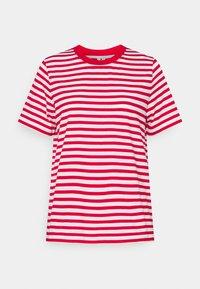 Print T-shirt - red/white