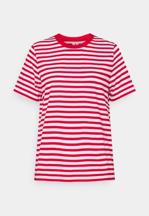 Camiseta estampada - red/white