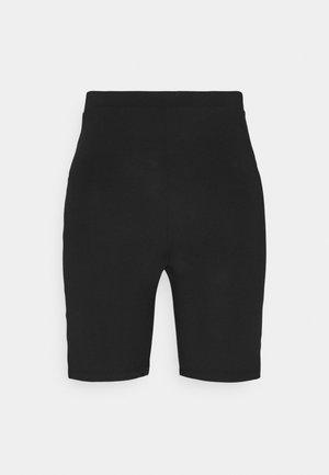 SLIT DETAIL BIKE - Shorts - black