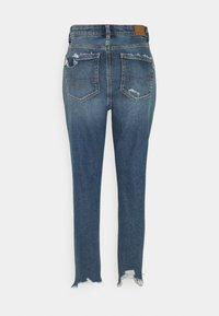 American Eagle - HIGHEST RISE MOM  - Slim fit jeans - destroy your blues - 1