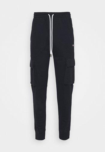 CUFF PANTS - Pantaloni sportivi - navy