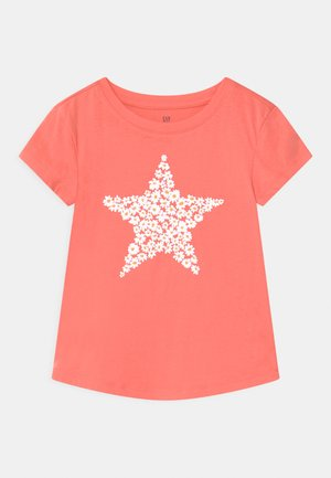 Print T-shirt - neon coral volt