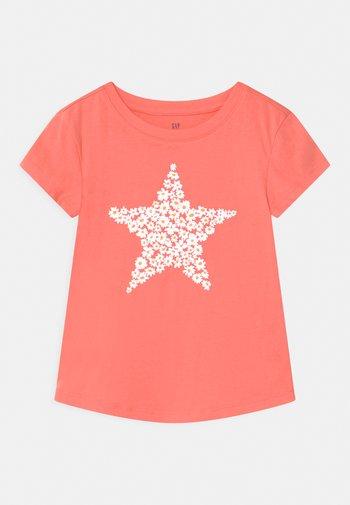 Camiseta estampada - neon coral volt