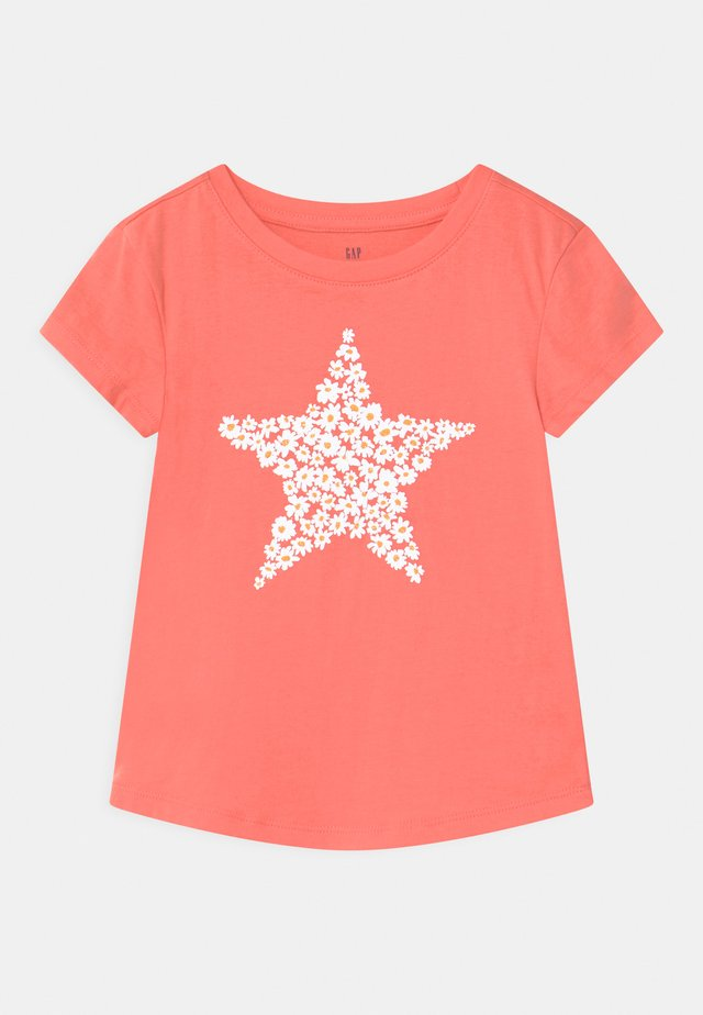 T-shirt con stampa - neon coral volt